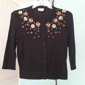 Kate Spade sweater with jeweled detail